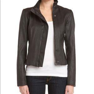 Theory Lambskin Leather Jacket